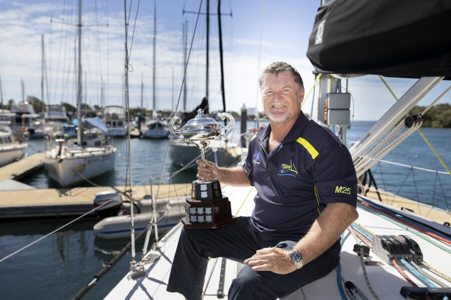 Queensland yacht racing club Bribie Cup trophy moreton daily